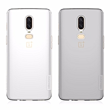 For OnePlus 6/A6000 Mobile Phone Cases TPU Mobile Phone Protector Mobile Phone Back Case Light Gray