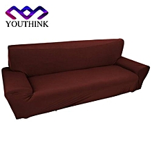 3 Seater Polyester Pure Colour Protect Slipcovers Brown