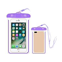 Outdoor Waterproof Pouch Swimming Beach Dry Bag Case Cover Holder for Cell Phone-Purple