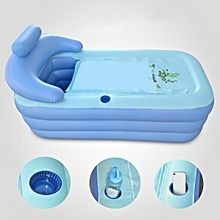 160CM Adult Blowup Folding Warm Inflatable Bathtub With Air Pump Spa