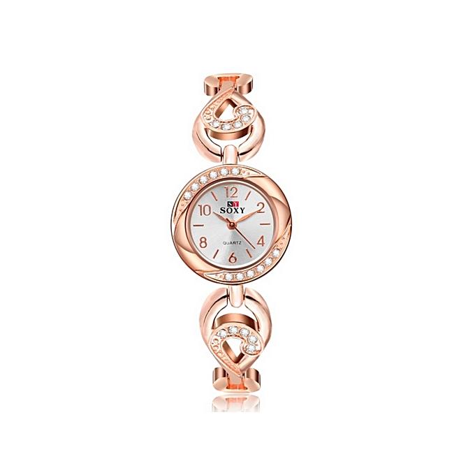 Top Brand Luxury Rhinestone Bracelet Watch Women Watches Rose Gold Women s  Watches Ladies Watch Gold d56cd9333