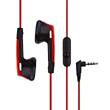 X42M HiFi Noise Isolating Stereo Dynamic Earphones Headphones With Microphone(RED)