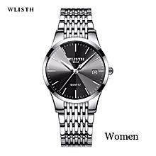 Wlisth Fashion Women Crystal Stainless Steel Analog Quartz Wrist Watch Bracelet  358
