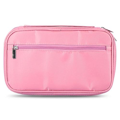 08171655e1c6 Professional Makeup Brushes Bag Toiletry Organizer Holder Pouch  Handbag(Pink)
