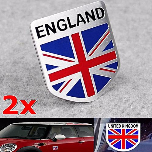 Buy Generic 2xcar Aluminum 3d Gb England Uk Flag Shield Emblem Badge