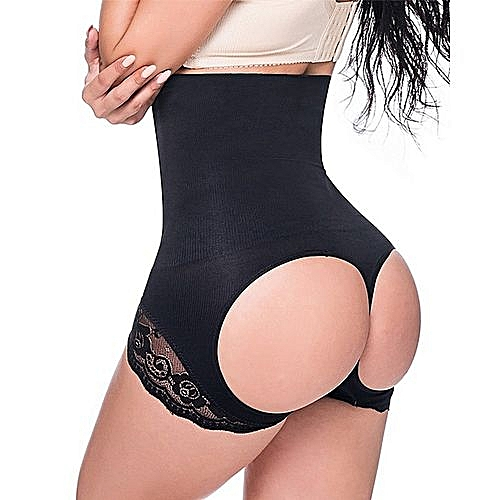 d0e2a1433e67a Generic SLIMBELLE Women s Butt Lifter Shaper Tummy Control Panty Hi-Waist  Thigh Slimmer Seamless Thongs Black