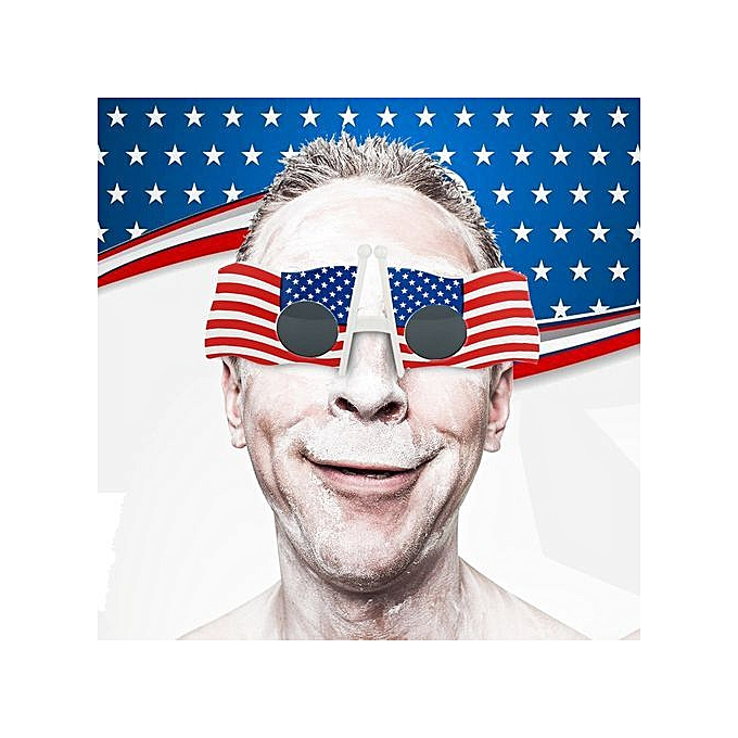 378892c01d3b Fashion Cool American Flag Sunglasses USA Patriotic Design For 4th Of July  Party Props ...