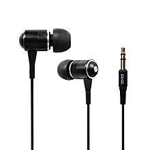 Headphone, ES-Q3 Universal 3.5mm Wired Super Bass Loud Volume In-Ear Headphone(Black)