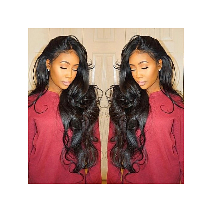Curly Wig Glueless Full Lace Wigs Black Women Indian Remy Human Hair Lace  Front - Black 07b1e55436