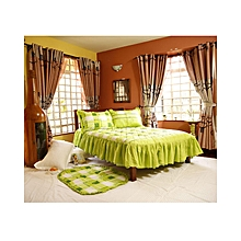 4Pc - Quilted Bedcover Set - 4 x 6 - Green