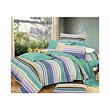 6 x 6 - Duvet Cover Set - 4pcs - Green & Purple