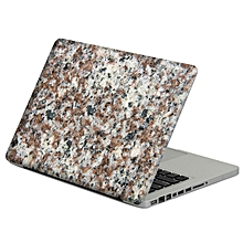 Removable Colorful Marble Pattern Self adhesive Front &Black Skin Sticker For Macbook 13 Inch
