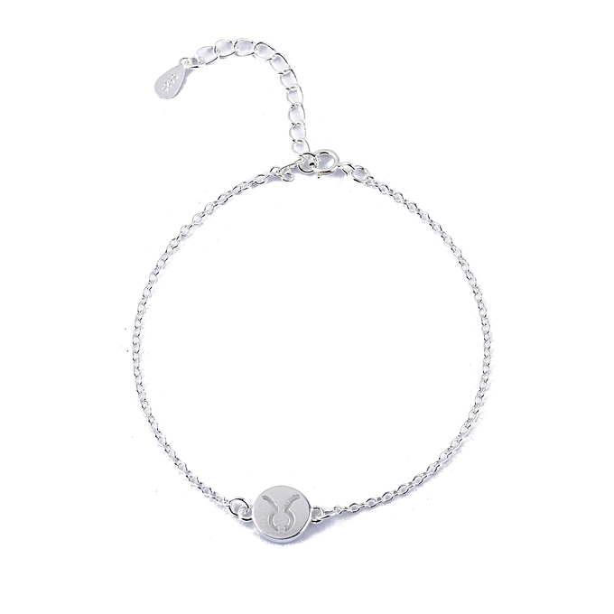 Silvery 925 Silver 12 Bracelet Taurus Fashionable Sweet Simple Birthday Girlfriend