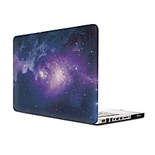 """15"""" Pro With CD-ROM Case, Starry-sky Hard Rubberized Cover For 2008-2012 Macbook Pro 15.4 Inch, Purple"""