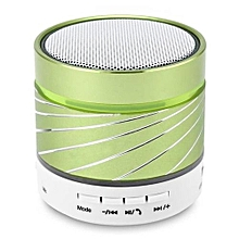 S07U Wireless Bluetooth Speaker Portable Mini Speakers with Hands-free Call LED Light TF Card Playback USB Flash Drive Function(Green)
