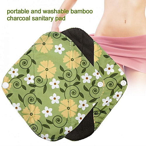b5656a9255924 Generic Reusable Charcoal Bamboo Menstrual Pads Washable Panty Liner  Sanitary Cloth WSD14