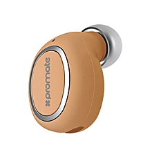 HALO-2: Gold  Bluetooth Mono Headset with HD Sound Quality, Multi-Point Pairing and Built-In Mic