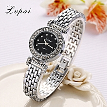 Fashion temperament diamond waterproof stainless steel quartz watch  Silver