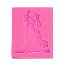 3D Wedding Silicone Fondant Mould Cake Mold Soap Chocolate Baking Kitchen Tool
