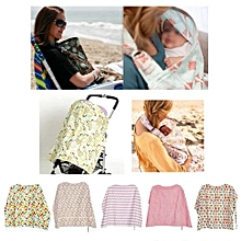 Cotton Mother Breastfeeding Cover Baby Feeding Apron Cloth #Coffee Letters