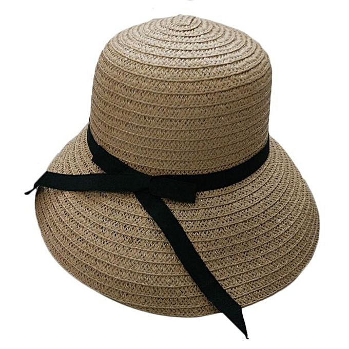 b56f5293428c Fashion Elegant Women Girls Outdoor Sun Hats Caps Summer Beach Hat Straw Cap