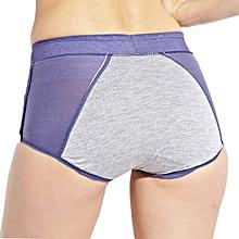 Women Comfort High Rise Jacquard Panties Physiological Leak Proof Underwear