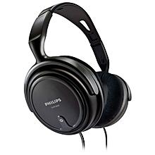 SHP2000 - Adjustable Over-Ear Stereo Corded Audio Headphones - Black