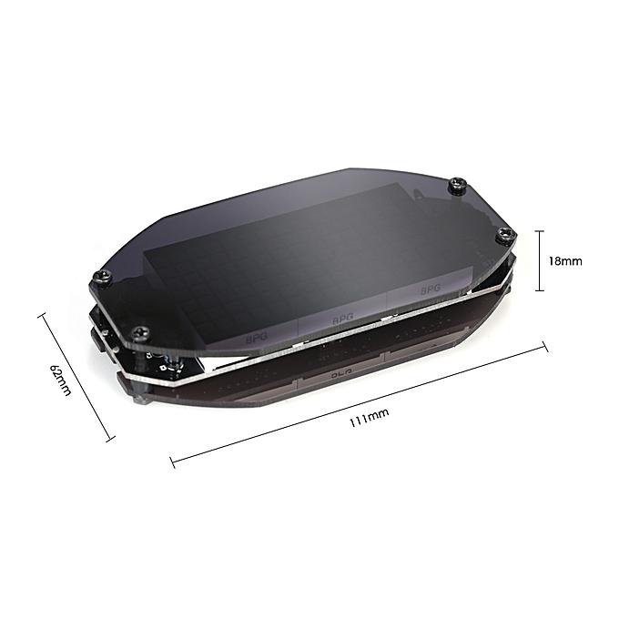 DIY Black Digital LED Mirror Clock Matrix Desktop Alarm Clock Electronic  Learning Kit Module with 12H/24H Function ℃/℉ Temperature Display Indoor