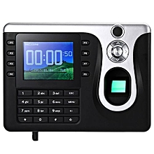 A - F260 Fingerprint Time Attendance Machine Identification Checking Recorder_BLACK
