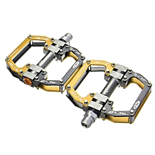 2Paie RockBros Road Mountain Bike Platform Pedals Flat Aluminum Sealed Bearing 9/16