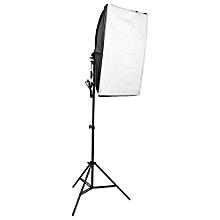 Durable Photography Studio Light Soft Box Kit Equipment-Black + White