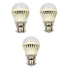 LED Bulb Energy Saving Bulb 3 pcs bundles - White- 3W.