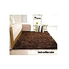 Fluffy Carpet - Chocolate Brown