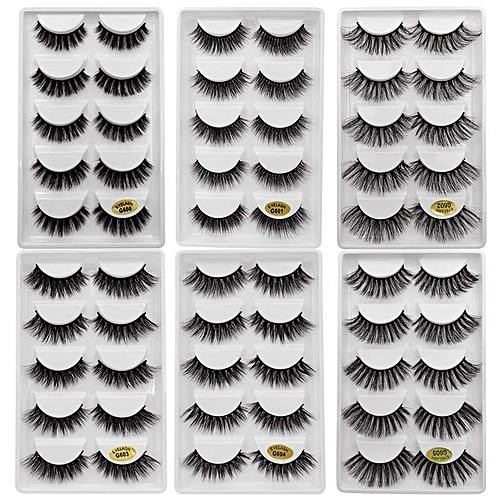 3a224c36959 Generic 30 pairs/lot natrual 3d mink lashes false lashes bulk fluffy 3d mink  eyelashes false lashes kit 6 packs eyelashes for maquiagem(G6Mix)