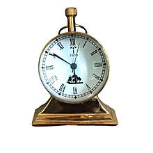 Antique Clock Piece With a Wooden Box - Gold