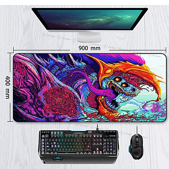1c5644d8e6d ... Game 900x400mm Hyper Beast XL Large Locking Edge Gaming Mouse Pad CS GO  Keyboard Rubber Mousepad ...