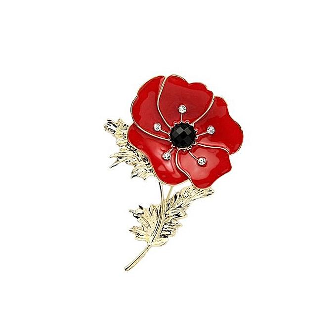 Buy fashion brooch diamante crystal poppy flower brooch pins 01 brooch diamante crystal poppy flower brooch pins 01 mightylinksfo