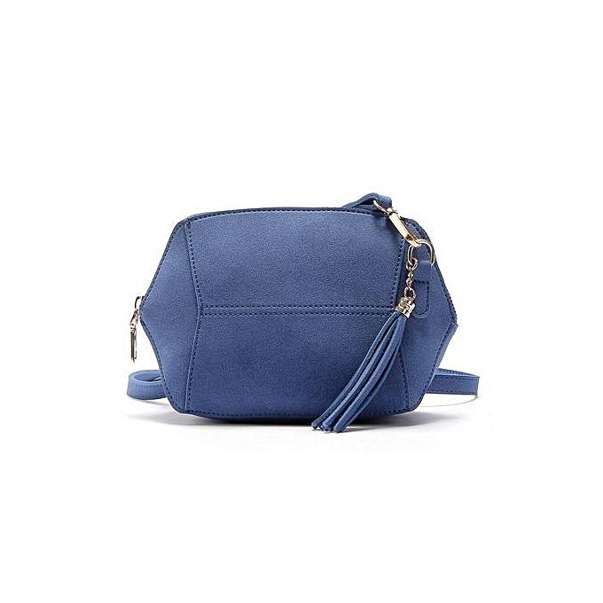 bluerdream-Womens Leather Shoulder Bag Satchel Handbag Tote Hobo Crossbody  Bags Blue-Blue 921c5ff18c1d7