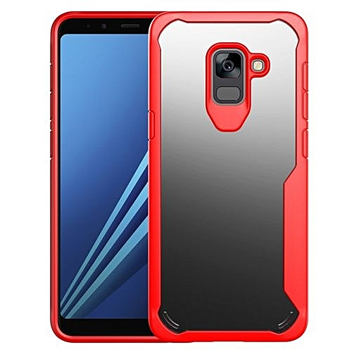 on sale 97460 677ee Samsung Galaxy A7(2018) Case, Fashion Hybrid Clear Transparent Slim Hard PC  Back Soft TPU Bumper Rugged Full Protection Shockproof Cover Case For ...