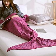 Honana WX-29 3 Size Yarn Knitting Mermaid Tail Blanket Fibers Warm Soft Home Office Sleep Bag Bed Mat  80x180cm