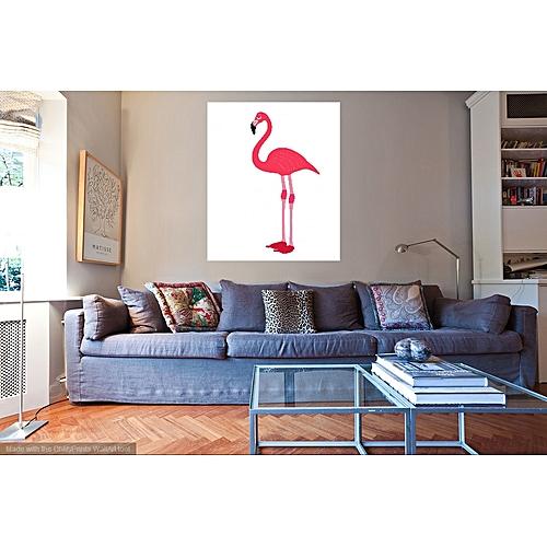 Pink Flamingo Modern Wall Art Canvas Tropical Summer Kids Room Nursery Home Decor