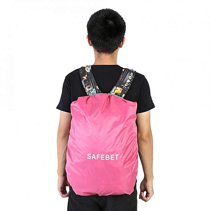 SAFEBET Waterproof Bag Backpack Rucksack Rain Cover Travel Camp Outdoor Pack  Pink b79f457a88