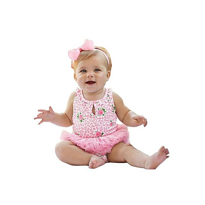 63d2c1729b7 Braveayong Newborn Infant Baby Girl Bodysuit Floral Romper Jumpsuit Outfits  Sunsuit 90 -Pink