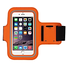 Armband Gym Running Sport Arm Band Cover Case For iphone 6s Plus 5.5Inch OR-Orange