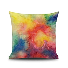 Fresh Watercolor Painting Linen Cushion Cover Throw Pillow Case Sofa Home Decor