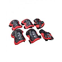 Protection Set - Size L - Red & Black
