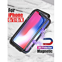 iPhone X/8/8Plus/7/7Plus/6S/6SPlus/6/6Plus Phone Case Shock-Proof Shatter-Resistant Magnet Cover____IPHONE 7____red
