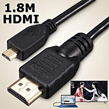 1.8M 6FT Micro HDMI Male To HDMI Male Adapter Converter Cable For PC Phone TV