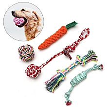 5 Pcs Dog Rope Toy Tough Strong Chew Knot Pet Puppy Healthy Teeth Training Toys