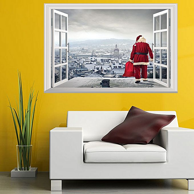 Christmas Holiday Window 3d Wall Stickers Christmas Decoration 3D ...